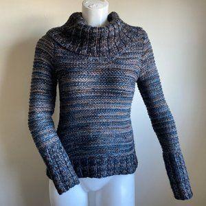 Ann Taylor LOFT Cowl Neck Knit Ribbed Sweater